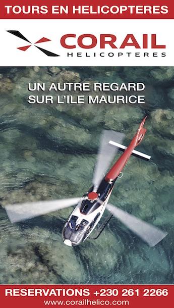 vol en hélicoptère Ile Maurice