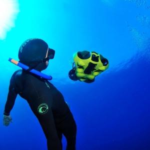 ibubble camera drone sous-marin autonome filmer plongée apnée Ile Maurice