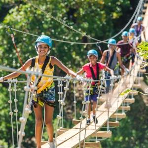 Casela Thrill Mountain - pont népalais - Cascavelle Ile Maurice